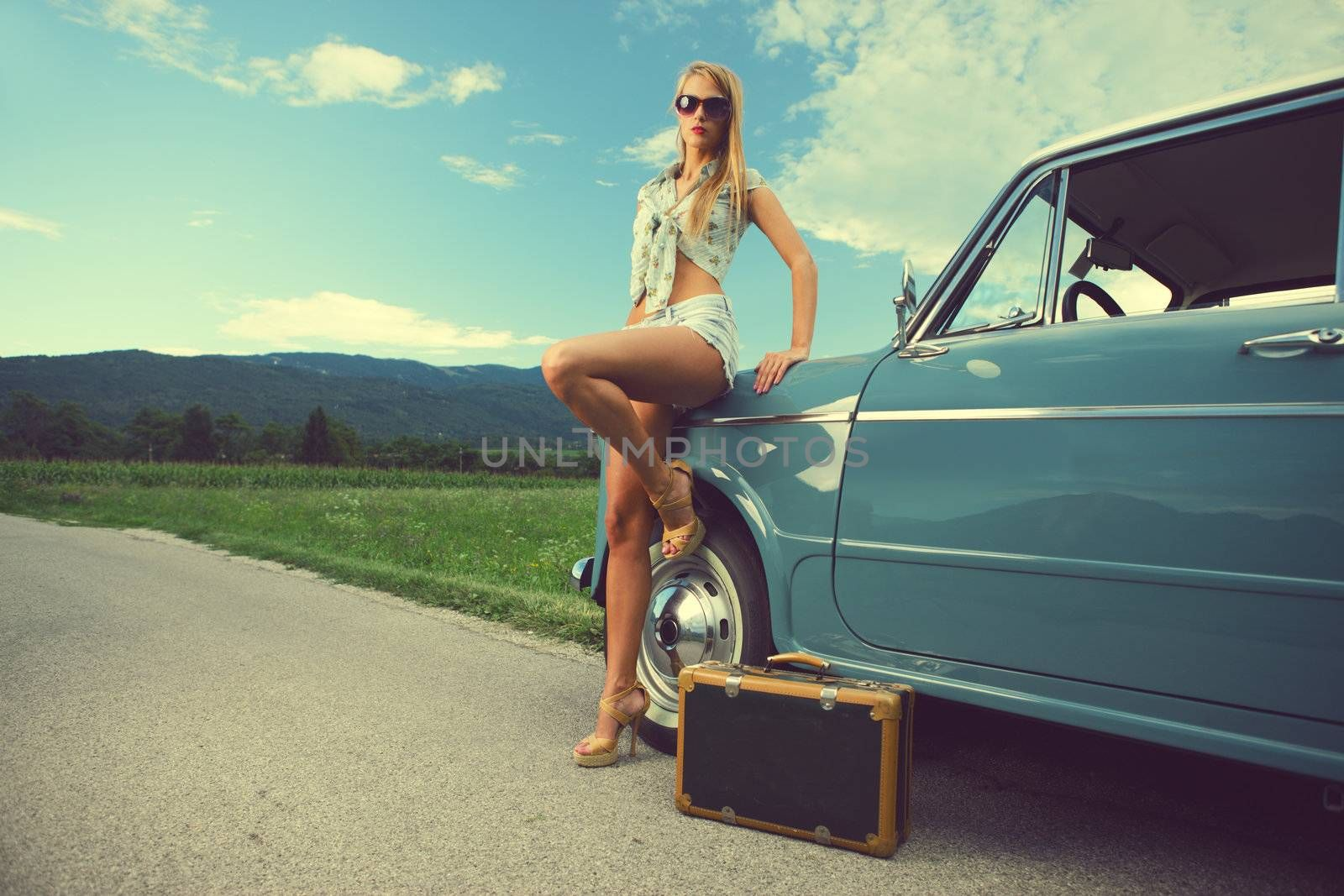 Travel woman by stokkete