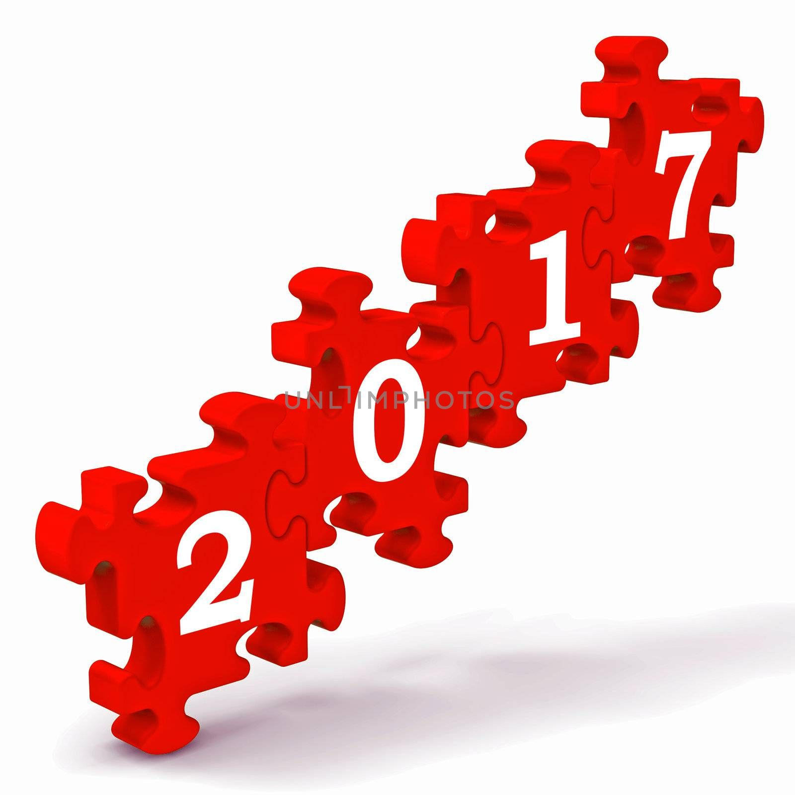 2017 Puzzle Shows New Year's Greetings And Festivity