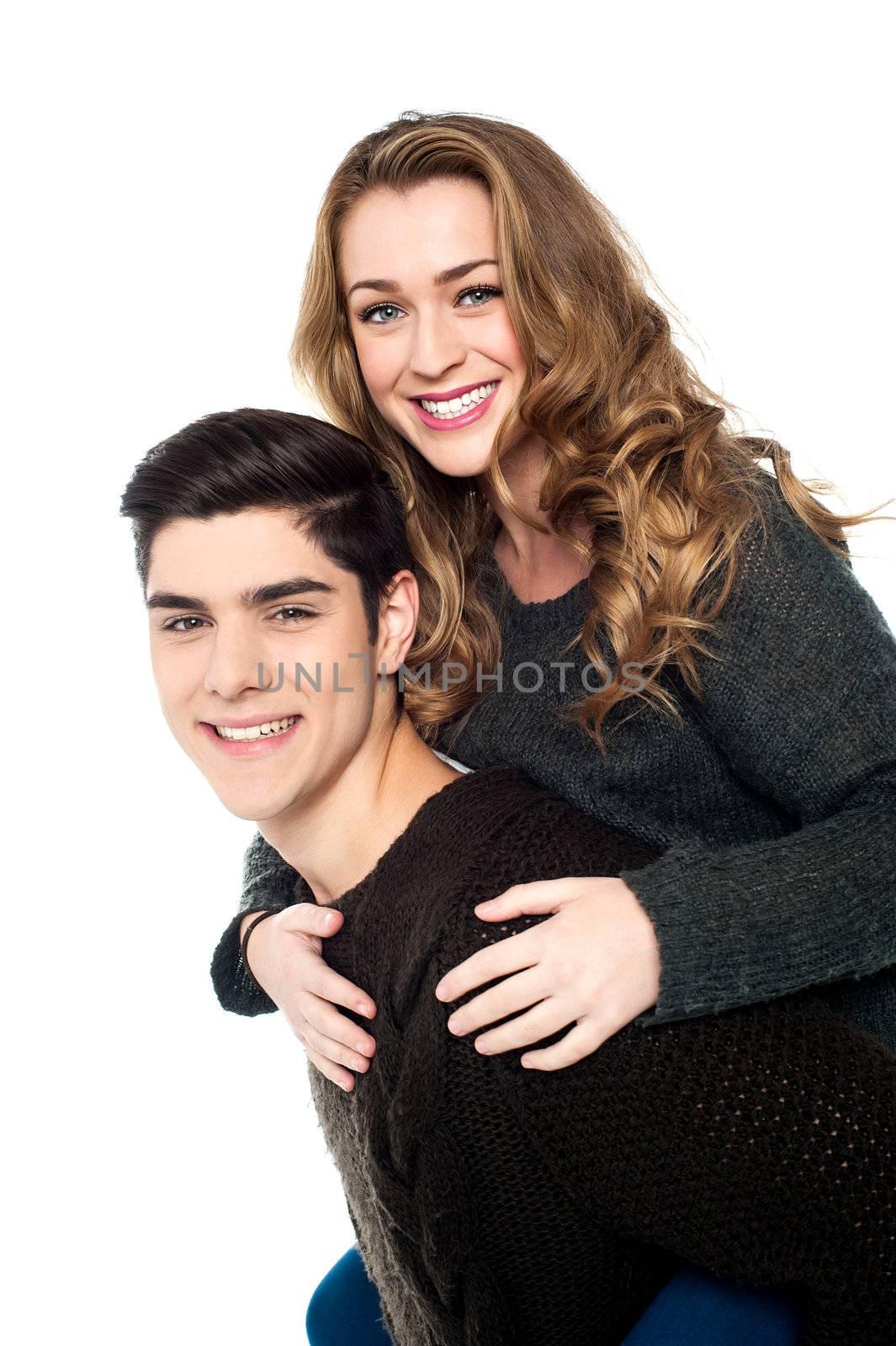 Romantic young couple having fun.