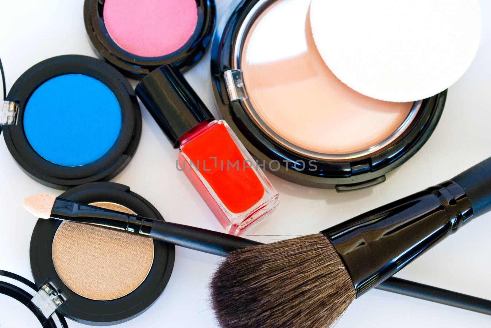 Makeup, Eye shadows, brush,foundation,blush