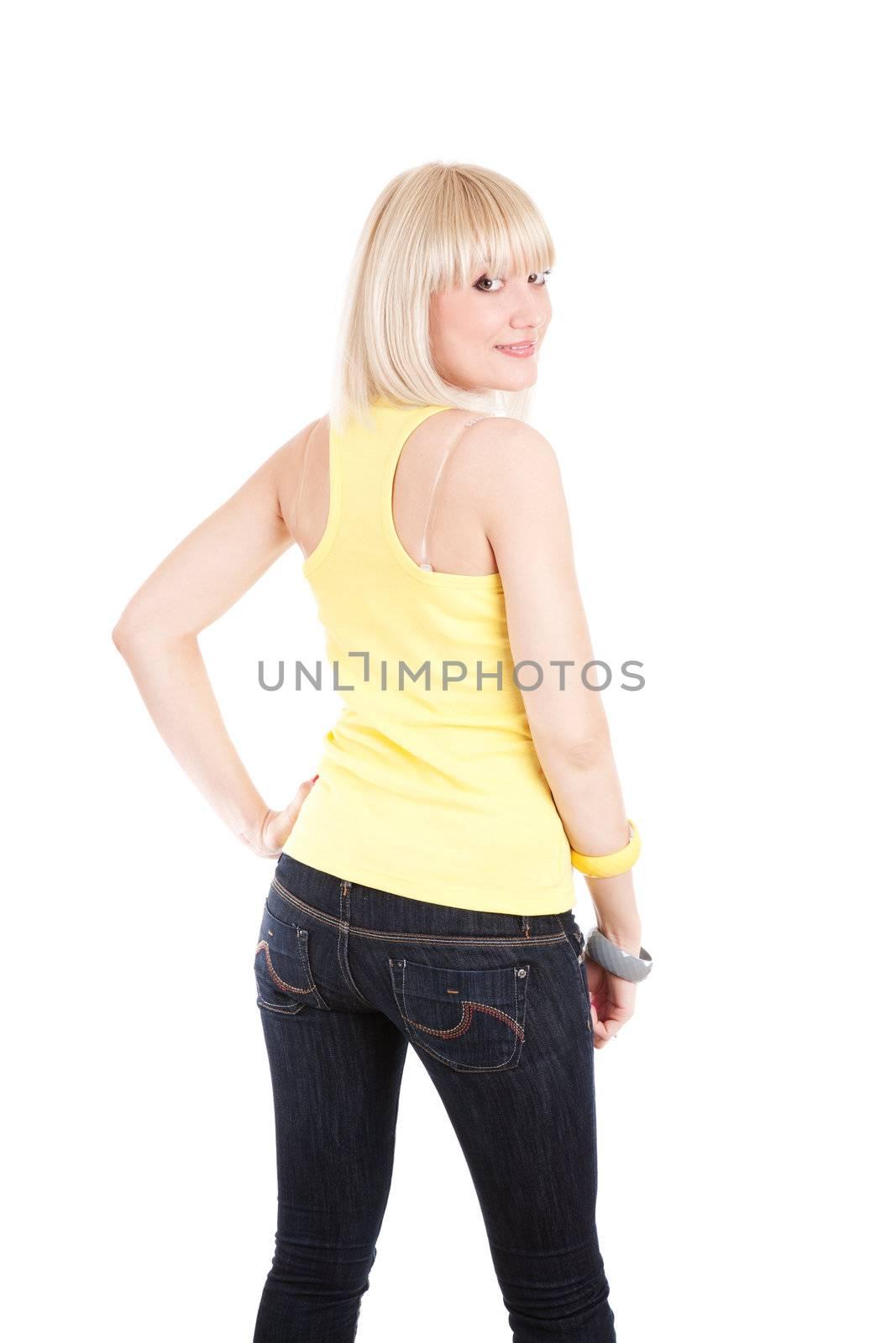 fashion girl by backside