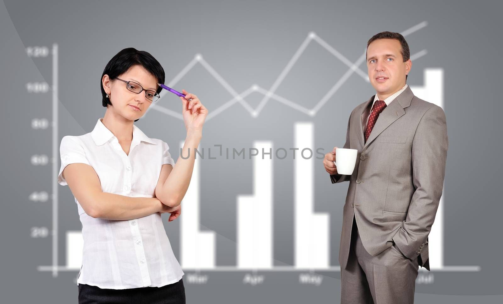 woman and man, business concept