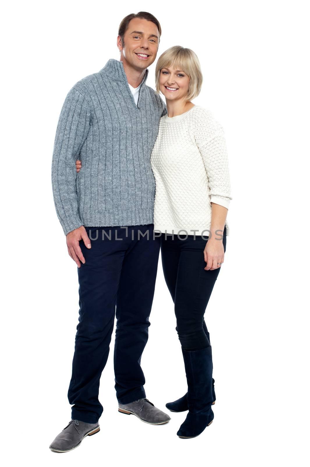 Full length shot of a romantic couple