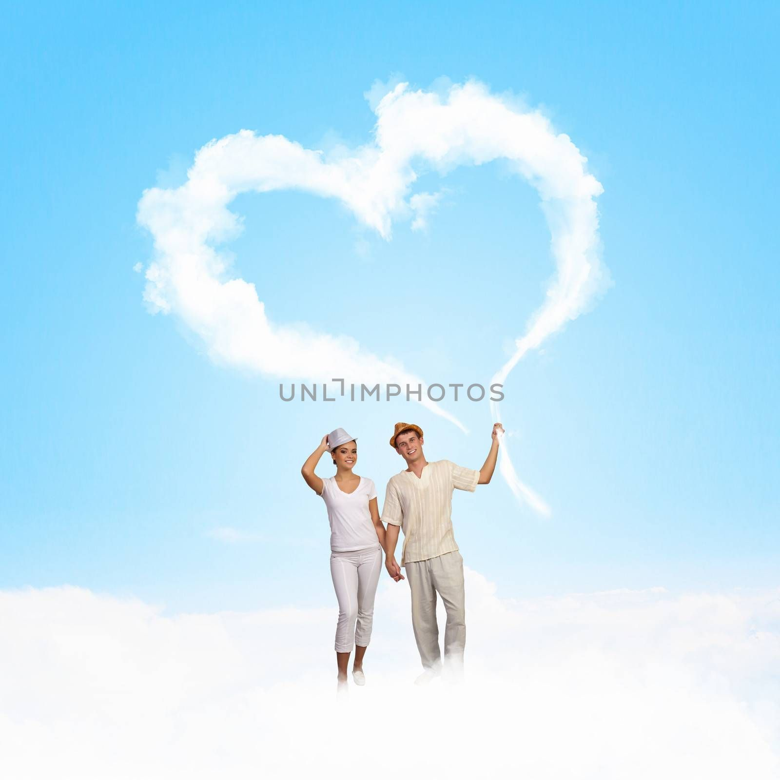 Image of young couple in love looking at each other