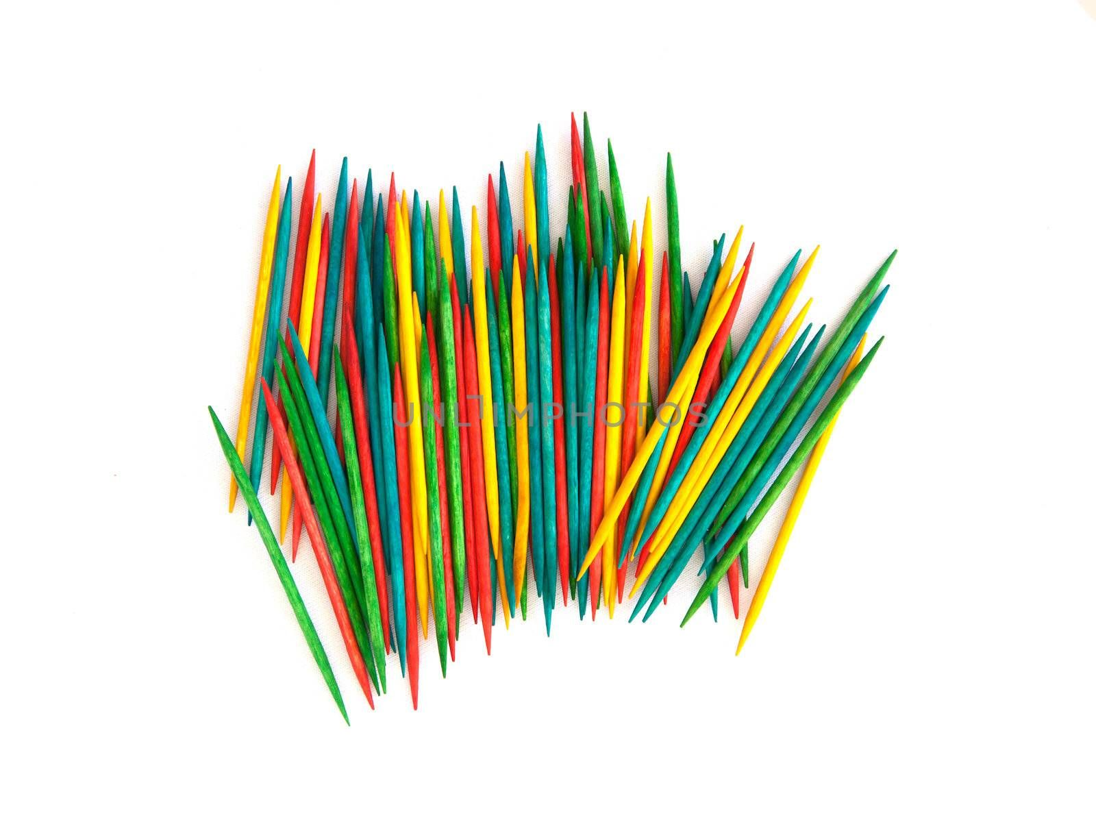 Many colorful toothpicks by michaklootwijk