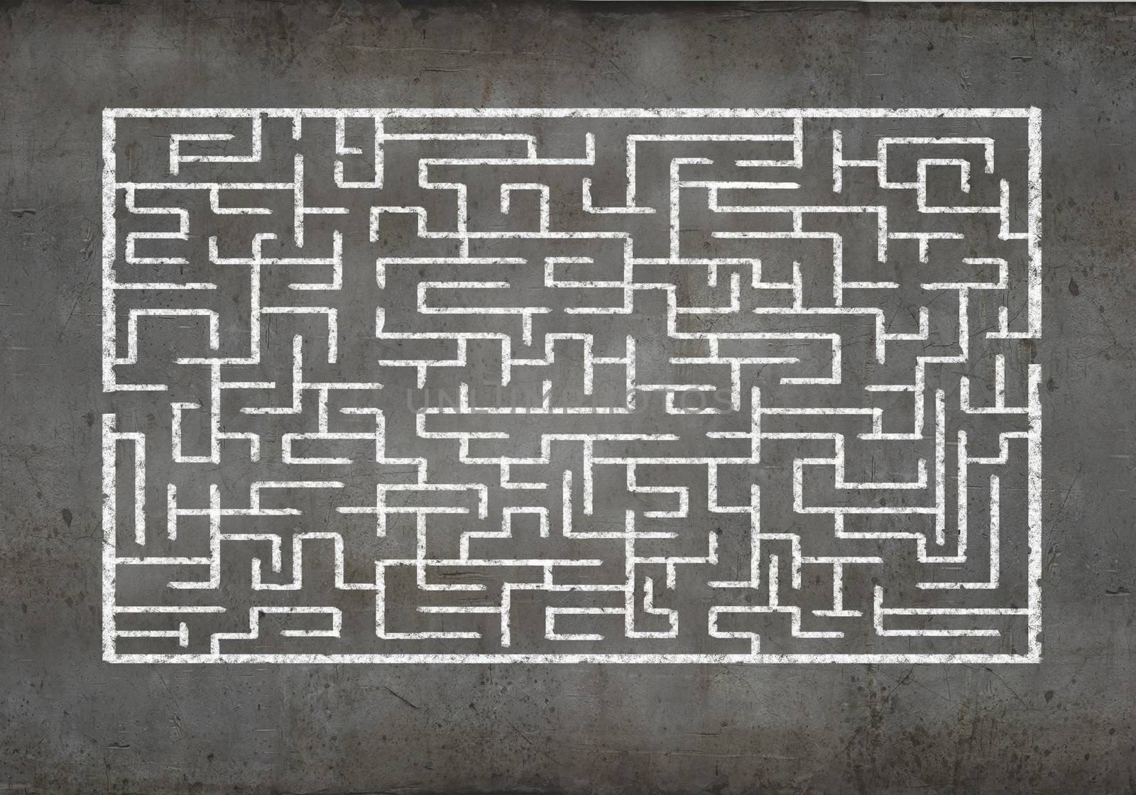 Abstract maze by sergey_nivens