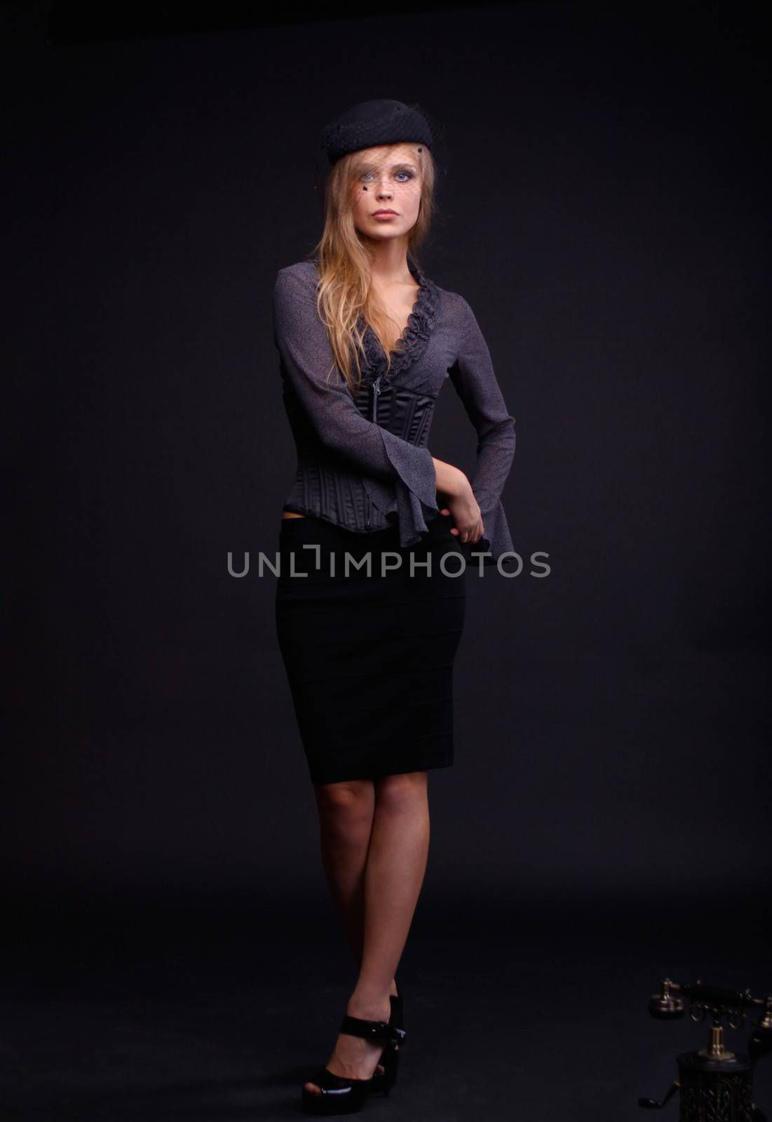 Full length portrait of an attractive woman
