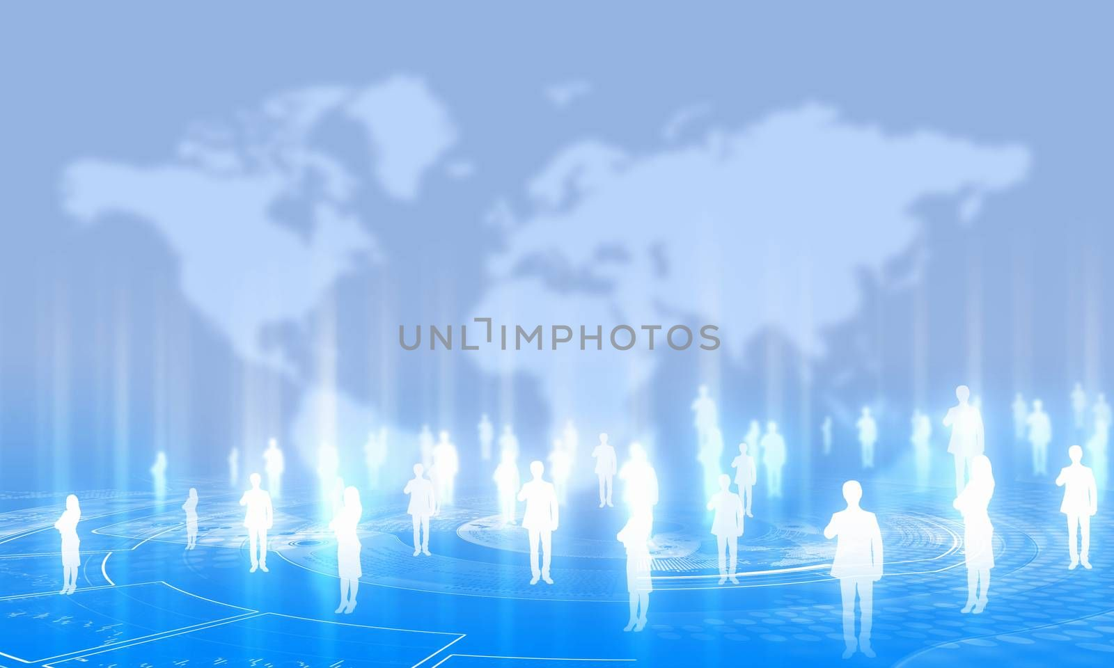 Background media image with icons. Social nets and communication
