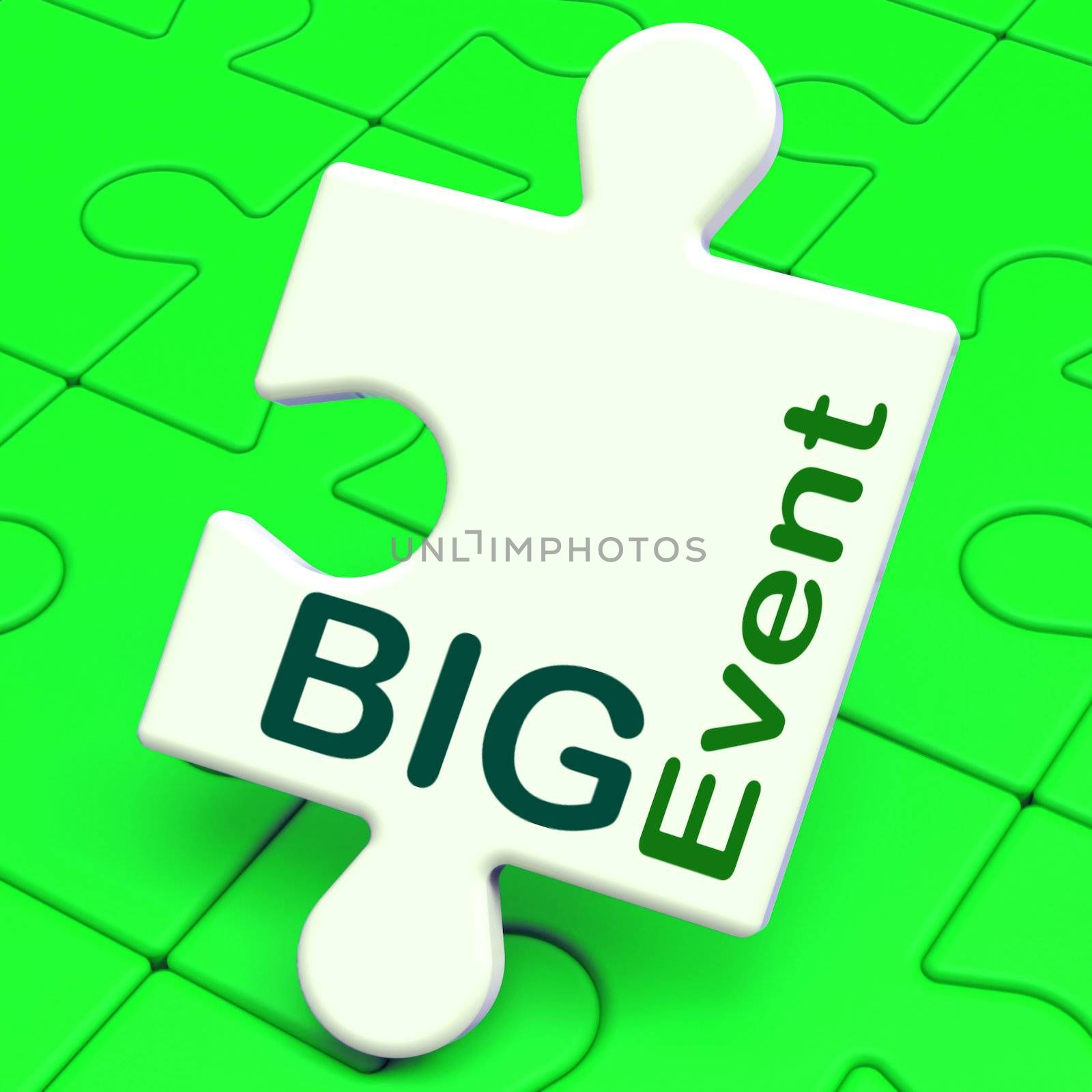 Big Event Puzzle Showing Celebration Occasion And Performance