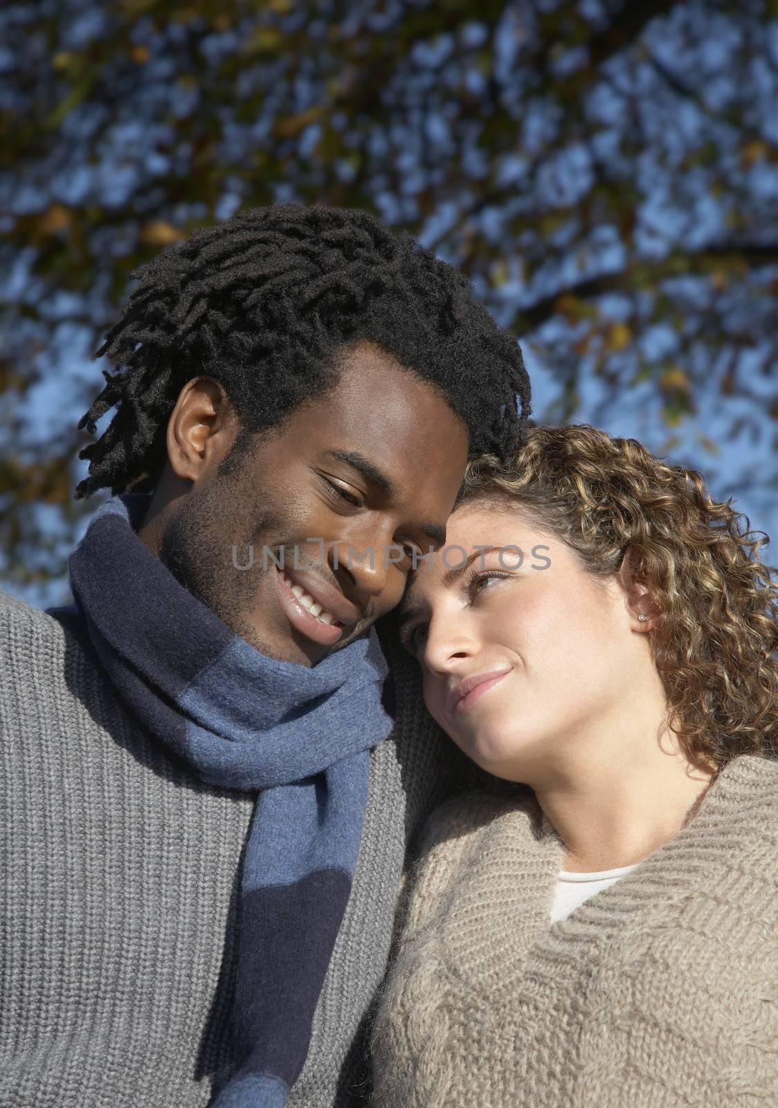 Romantic Couple At Park