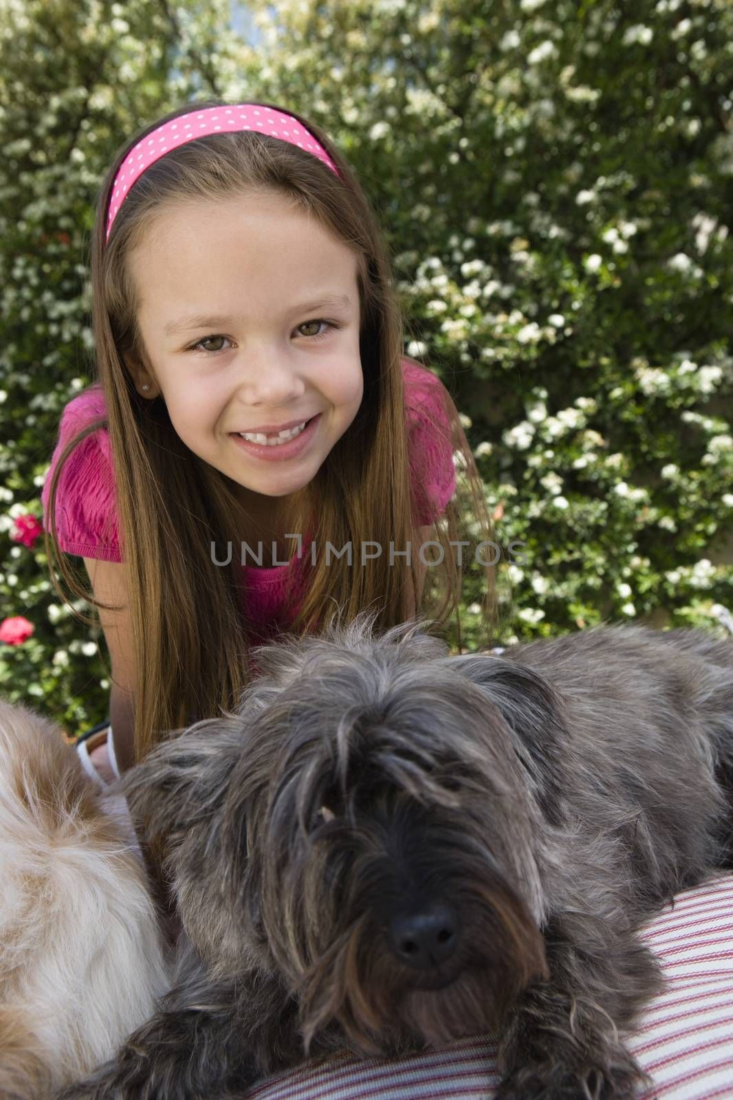 Little Girl with Pets by moodboard