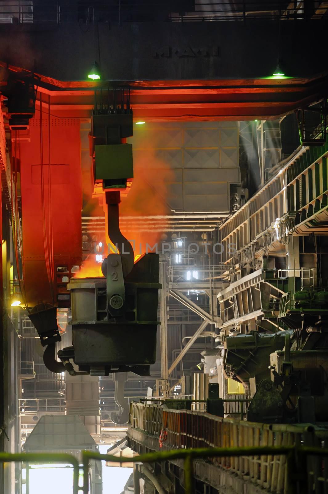 transportation of liquid metal in factory