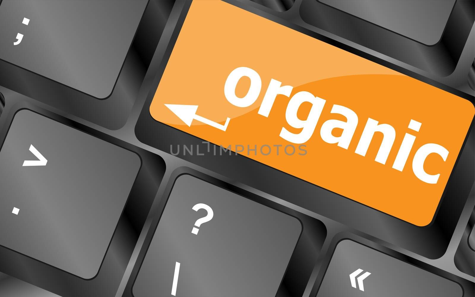 organic word on green and black keyboard button