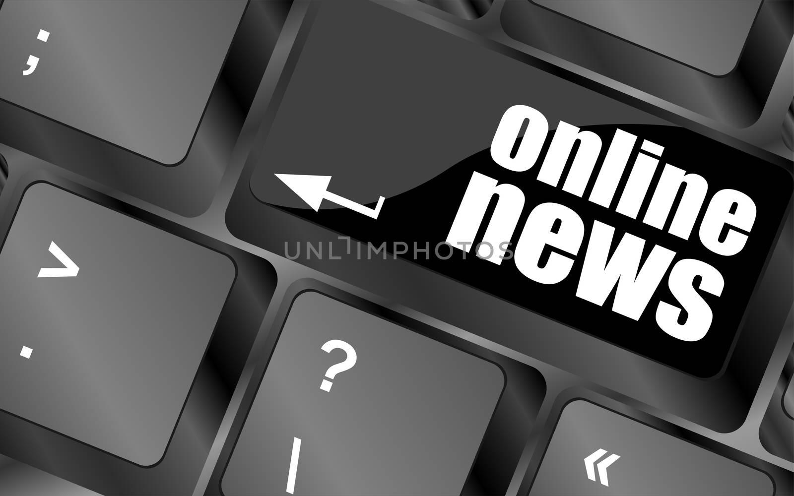 online news button on computer keyboard key