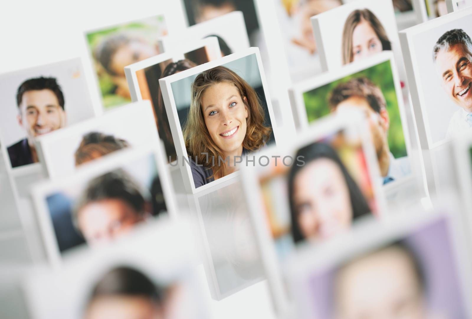 Portraits of a group of happy people