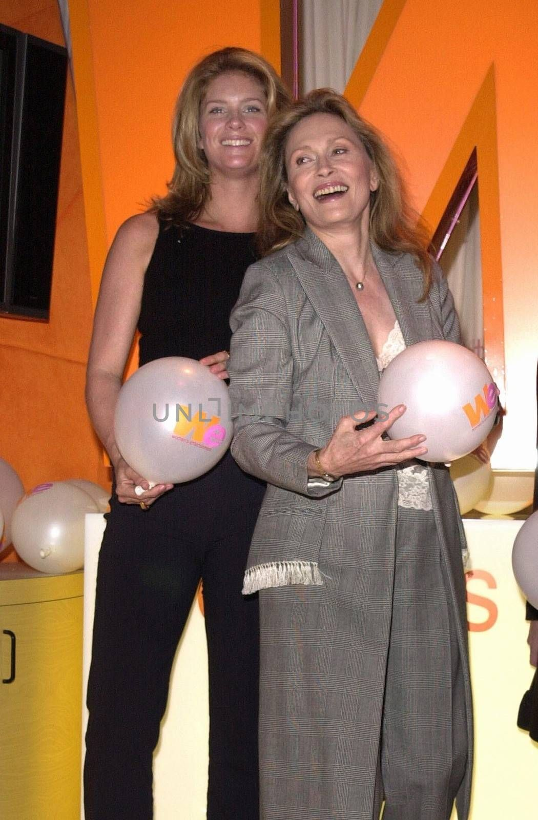 Rachel Hunter and Faye Dunaway at the unveiling of the new name for Romance Classics Television in Los Angeles, 11-29-00
