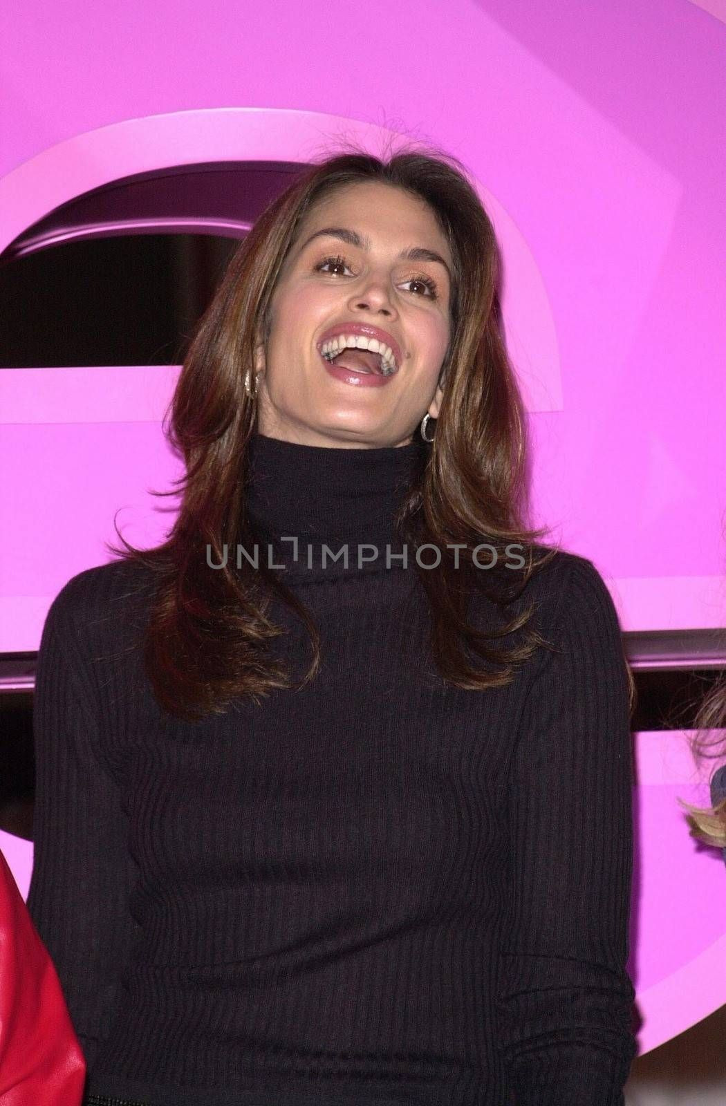 Cindy Crawford at the unveiling of the new name for Romance Classics Television in Los Angeles, 11-29-00