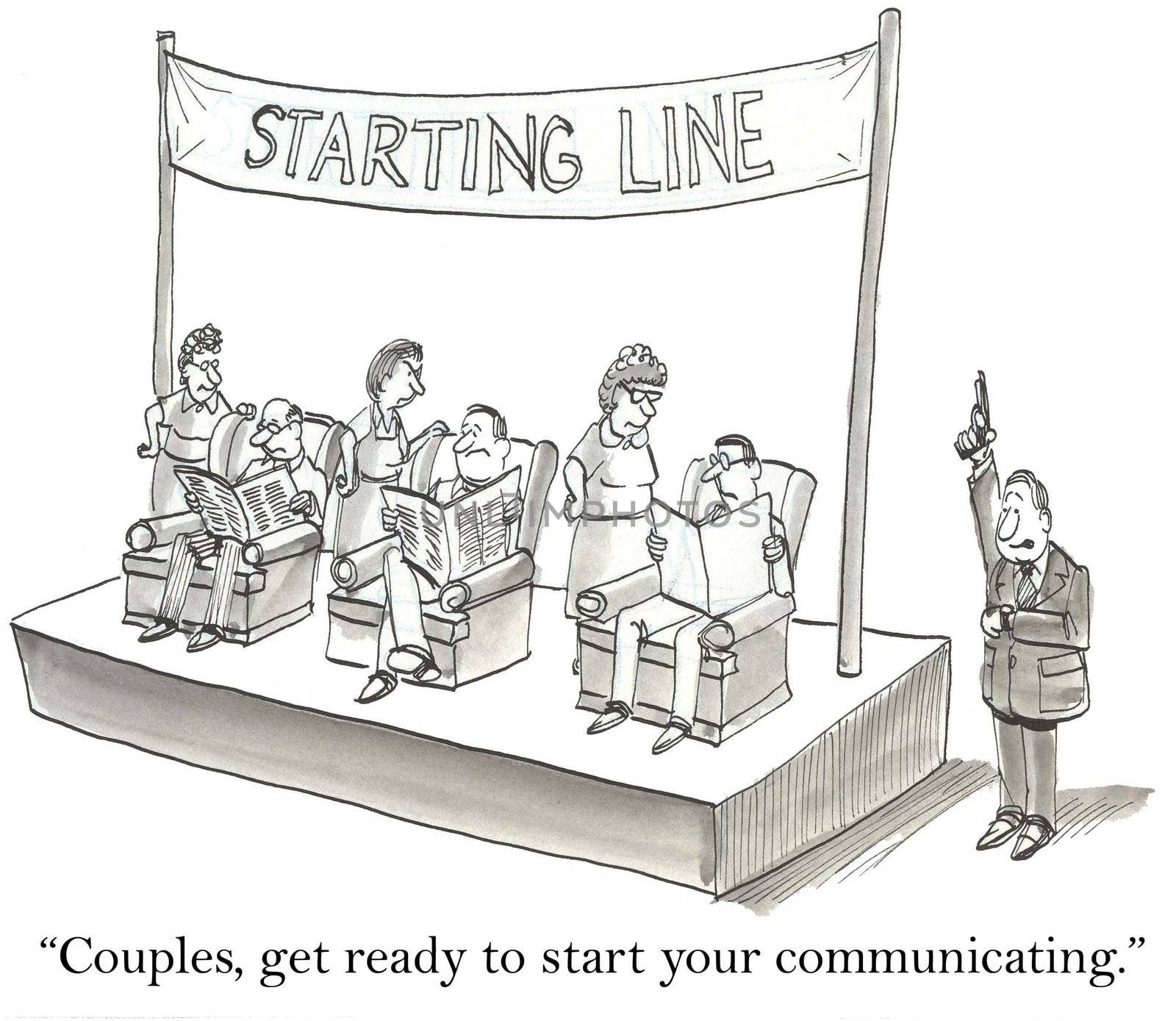 """""""Couples, get ready to start communicating."""""""
