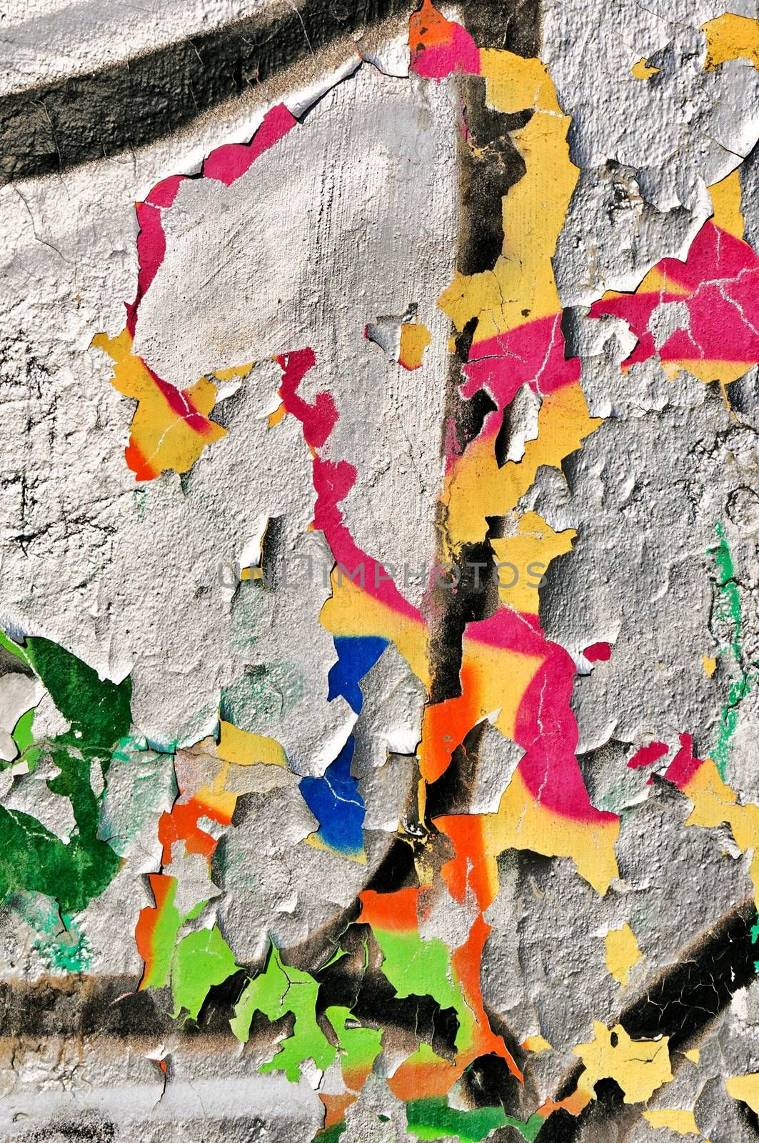 Abstract colors on the wall