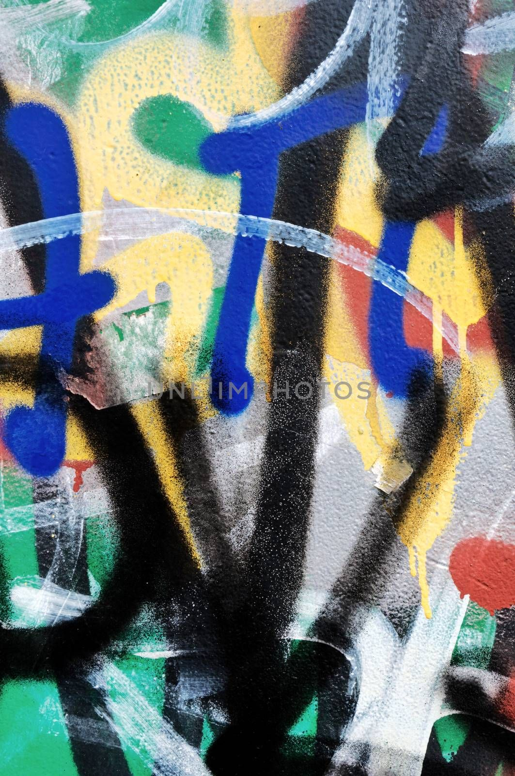 Abstract paint on the wall