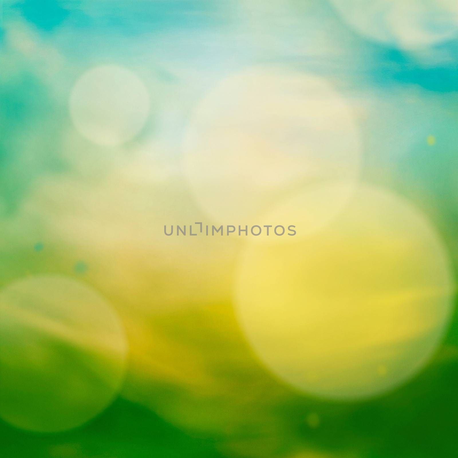 Spring or summer abstract nature background with meadow and blue sky in the back