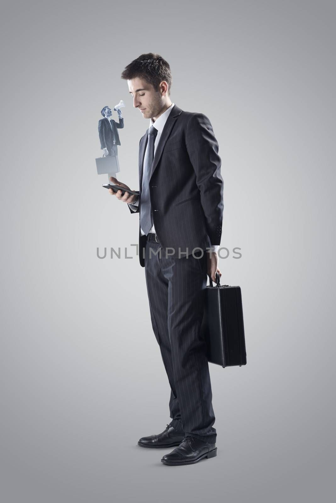 Business and mobile communication concept.