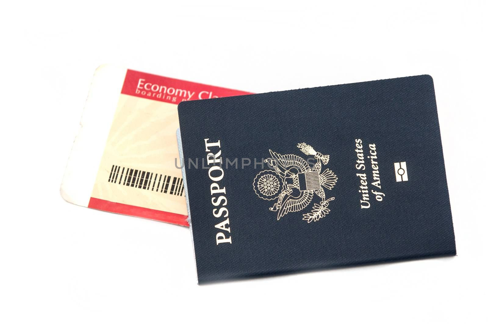 Passport and boarding pass sign of vacation and travel