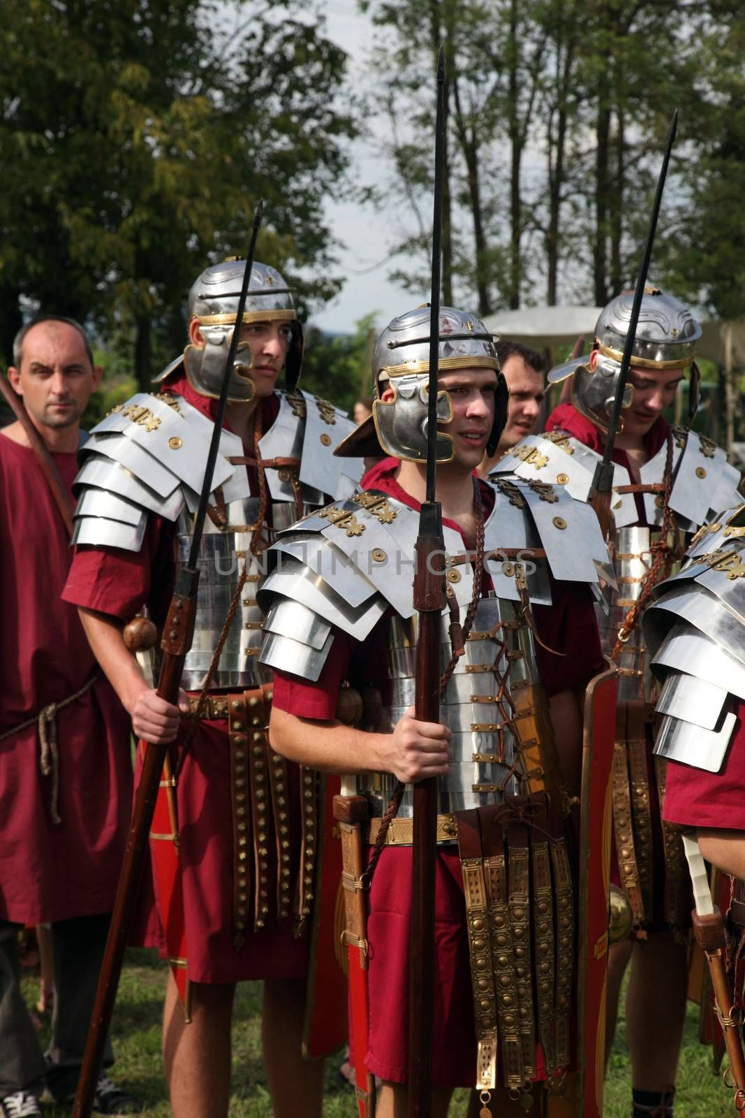 Dionysus festivities in Andautonija, ancient Roman settlement near Zagreb on Sep 15, 2013 in Zagreb, Croatia.