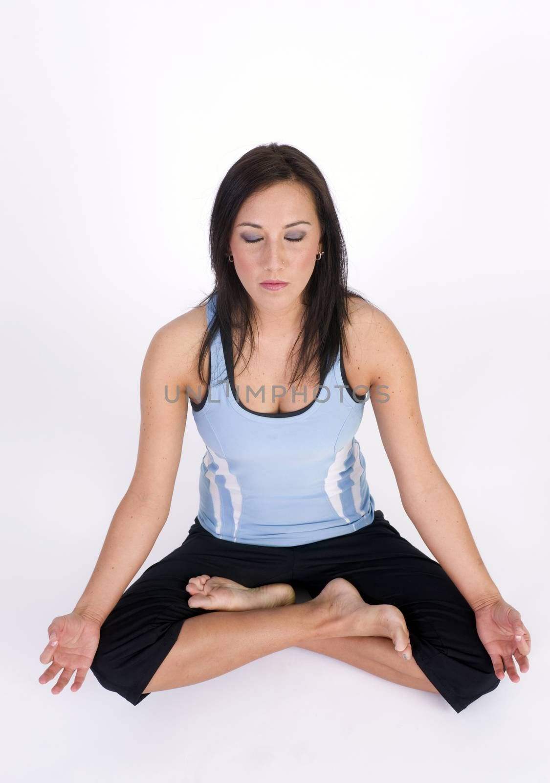 A woman during her Yoga Practice