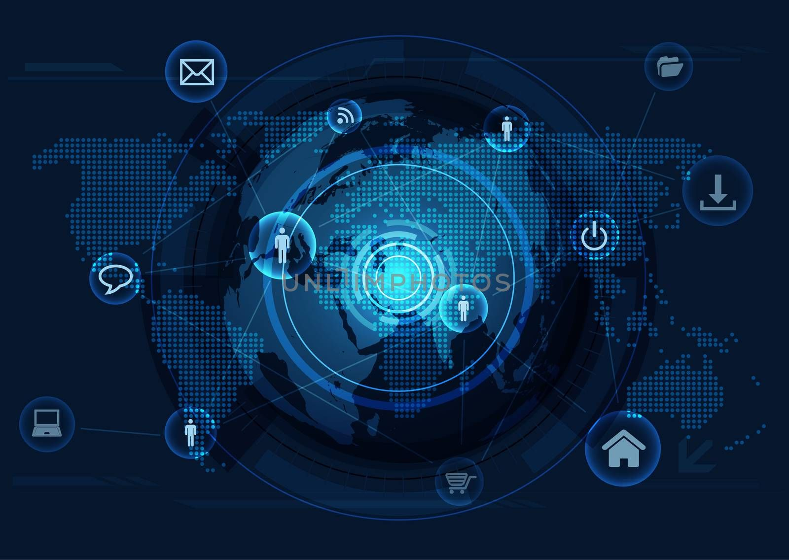 Vector communication in the global computer networks and internet