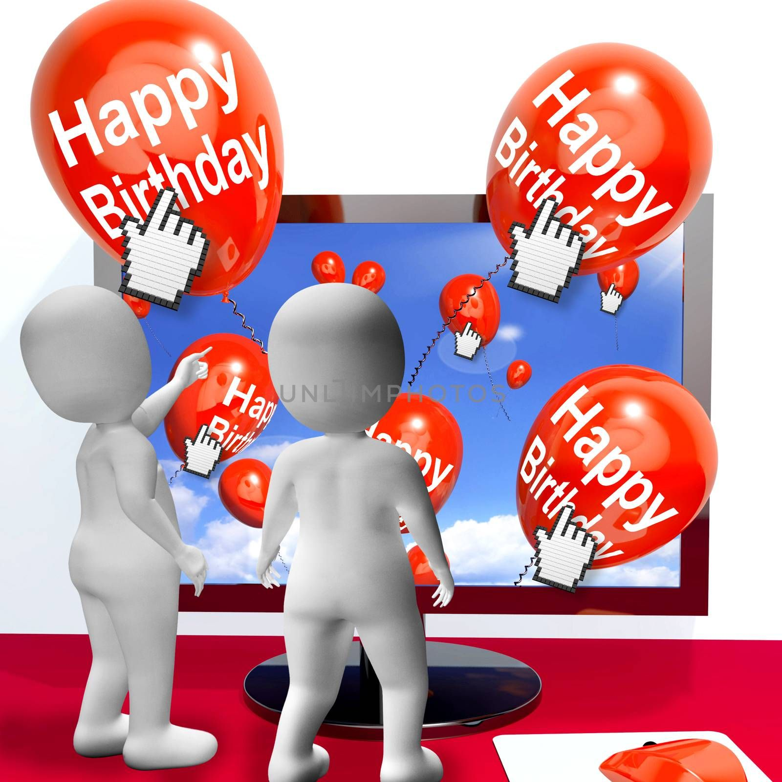 Happy Birthday Balloons Showing Festivities and Invitations Internet