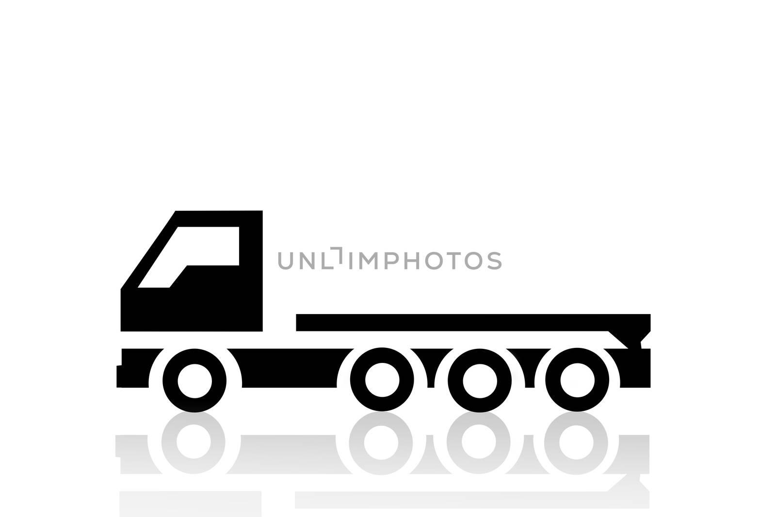 Truck illustration isolated on white background. Transportation and logistics.