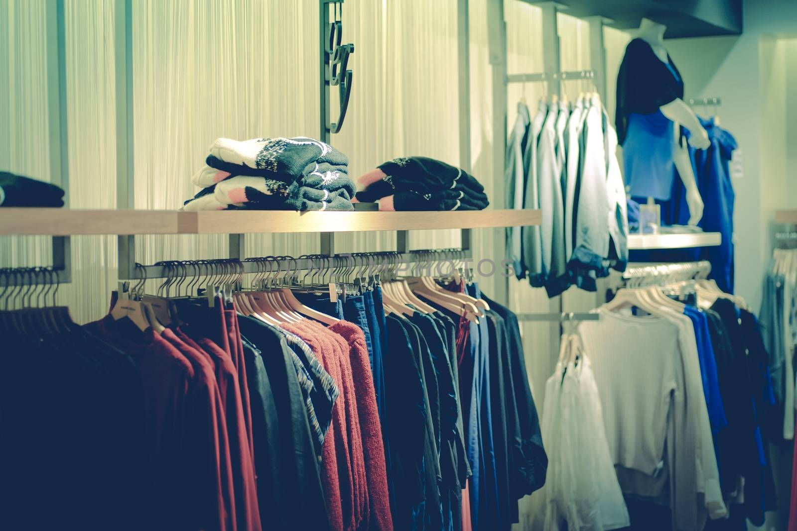 Fashion store filled with clothes for women