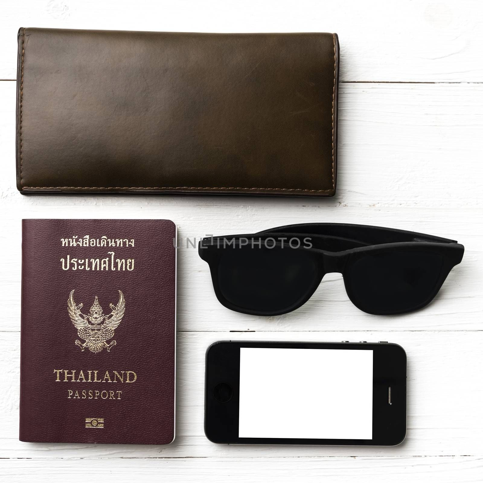 travel gadget over white table