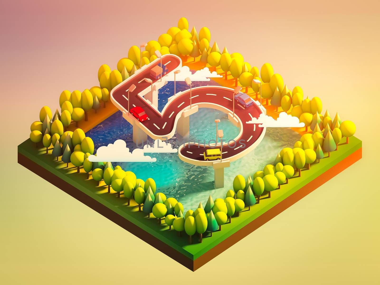 Isometric island transportation, road is number five