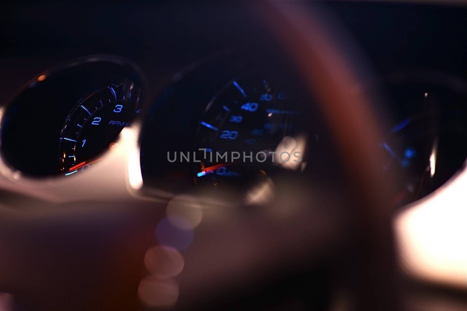 Modern Car Dash and Steering Wheel Closeup. Transportation Photo Collection