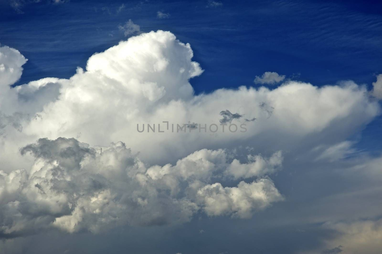 Summer Cloudscape Nature Background. Weather Photo Collection.
