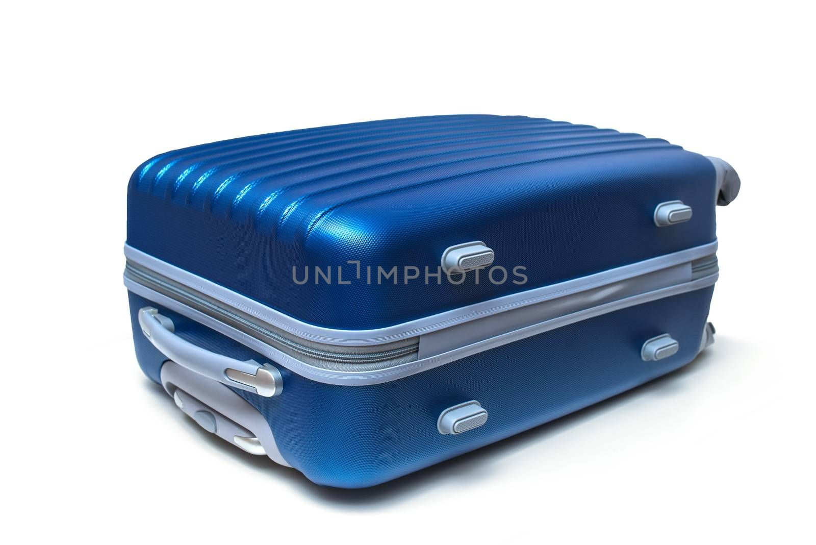 travel suitcase isolated on white with clipping path