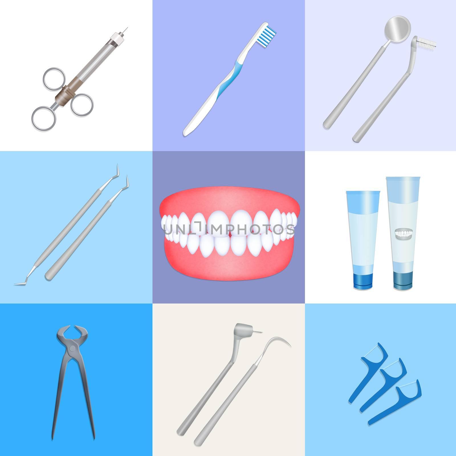 illustration of dentist instrument