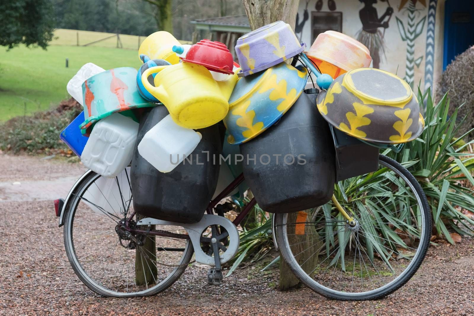 Transportation of empty barrels in Africa - Bicycle