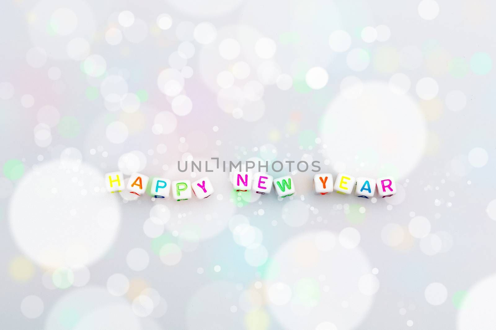 Happy New Year made of acrylic letter bead