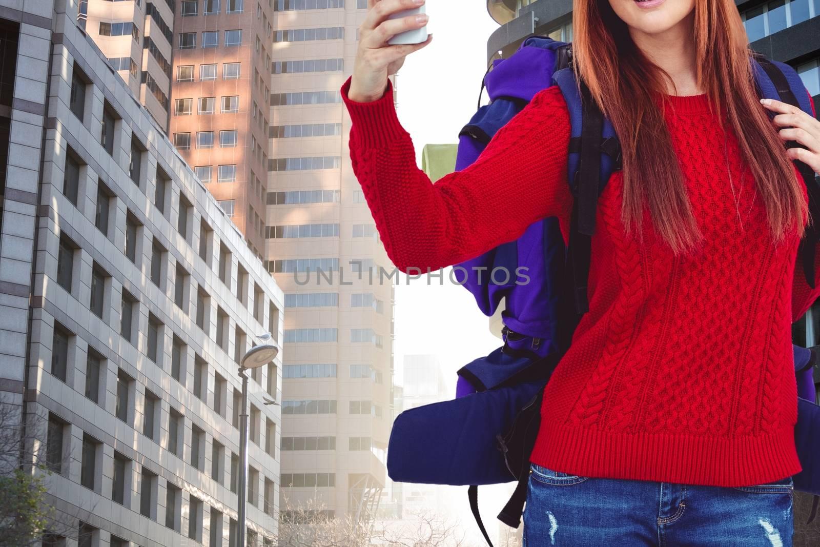 Digital composite of travel torso11
