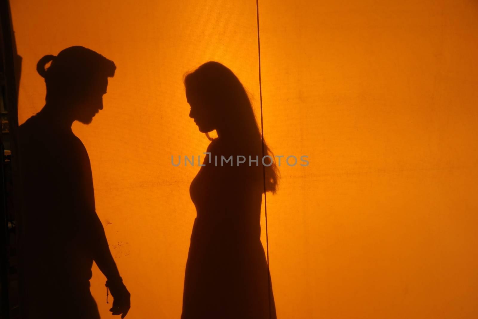Lovers silhouette by rajastills