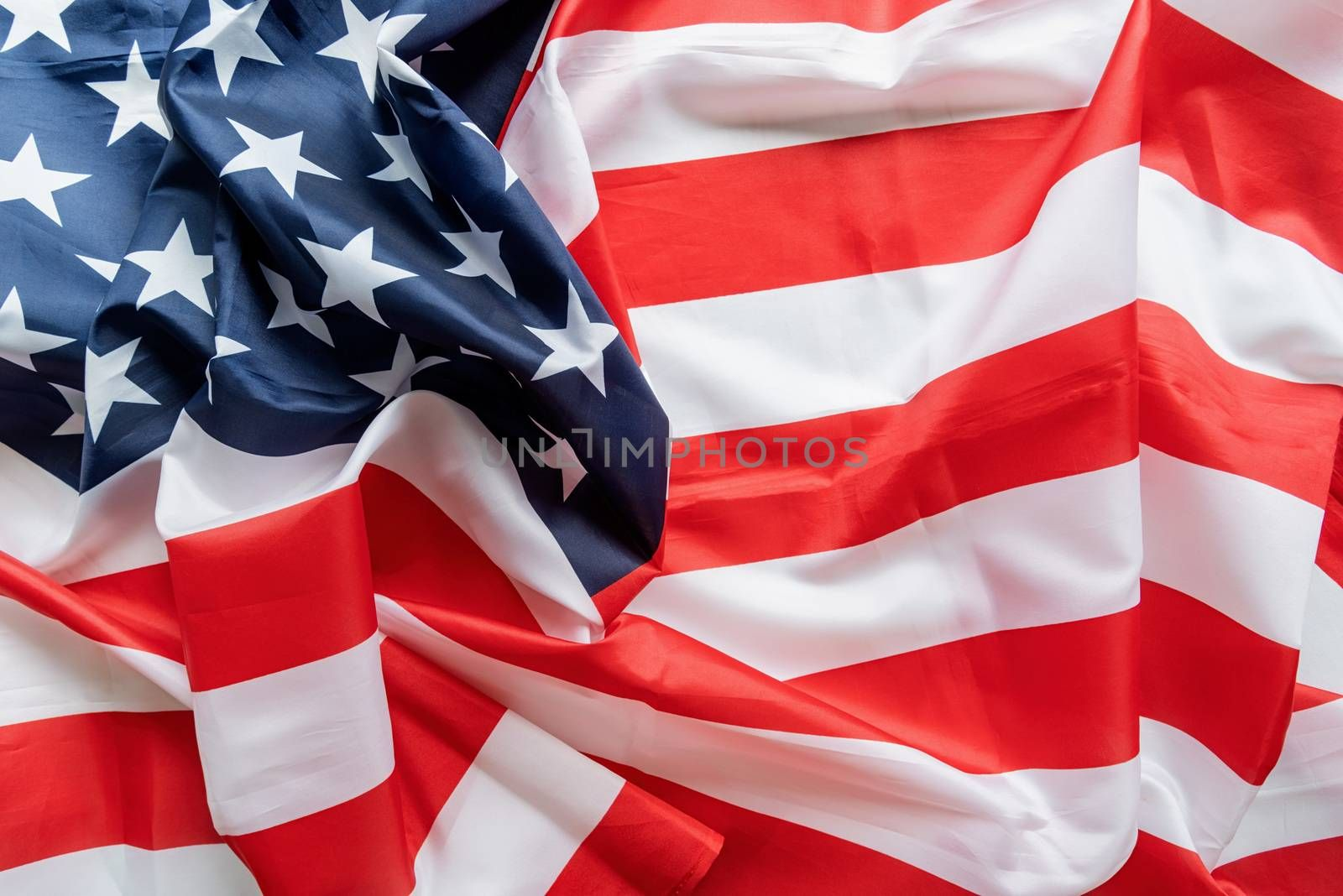 American flag wave close up for 4th of July or Memorial Day