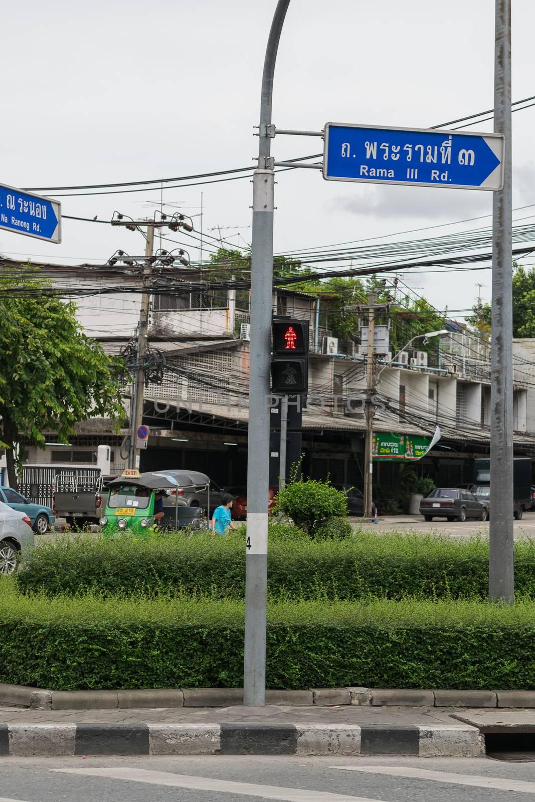 Bangkok, Thailand - July 19, 2015 : Transportation in Bangkok city. Bangkok is the capital and the most populous city of Thailand.