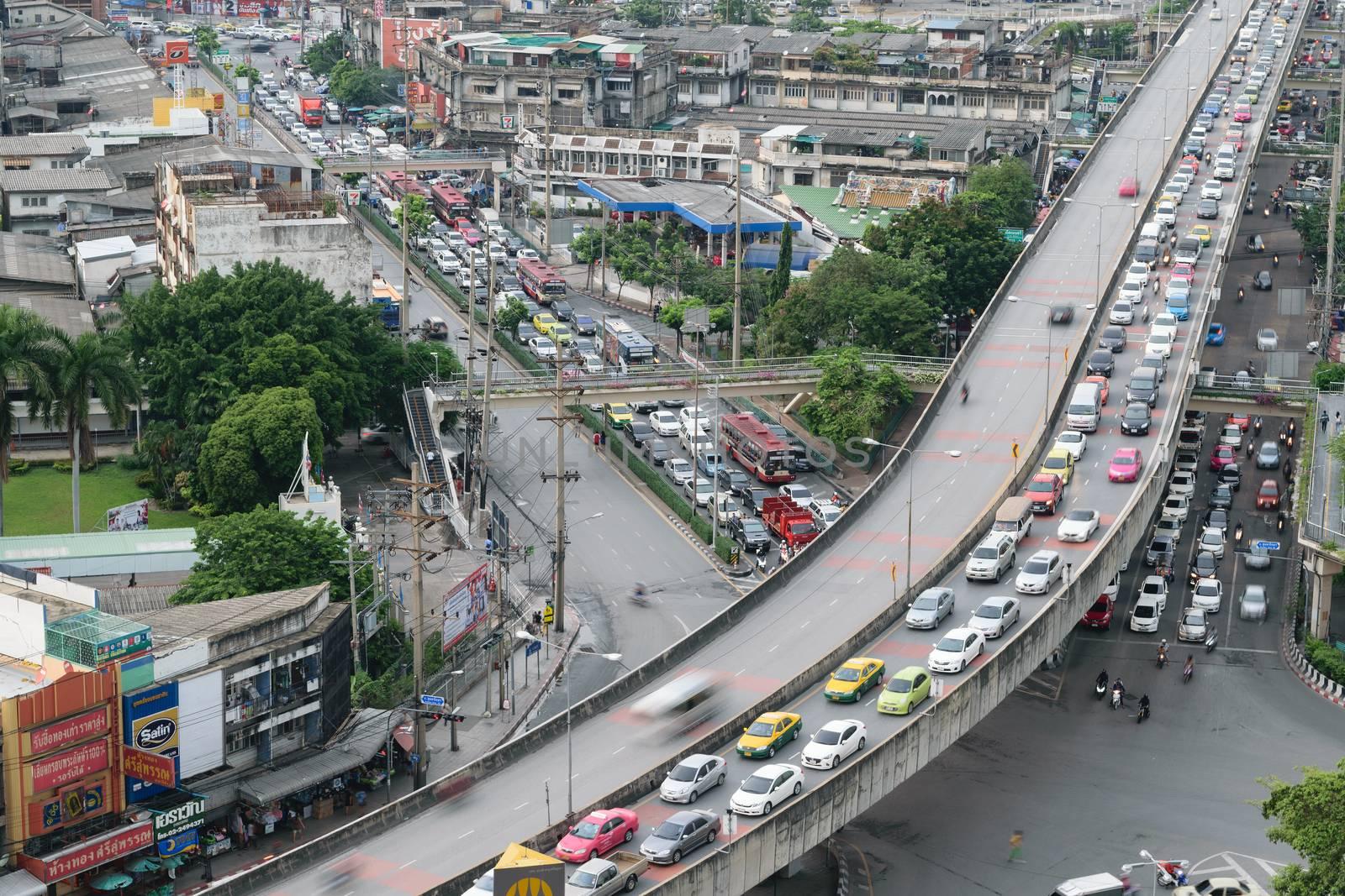 Bangkok, Thailand - October 1, 2015 : Daytime of Bangkok city. Bangkok is the capital and the most populous city of Thailand.