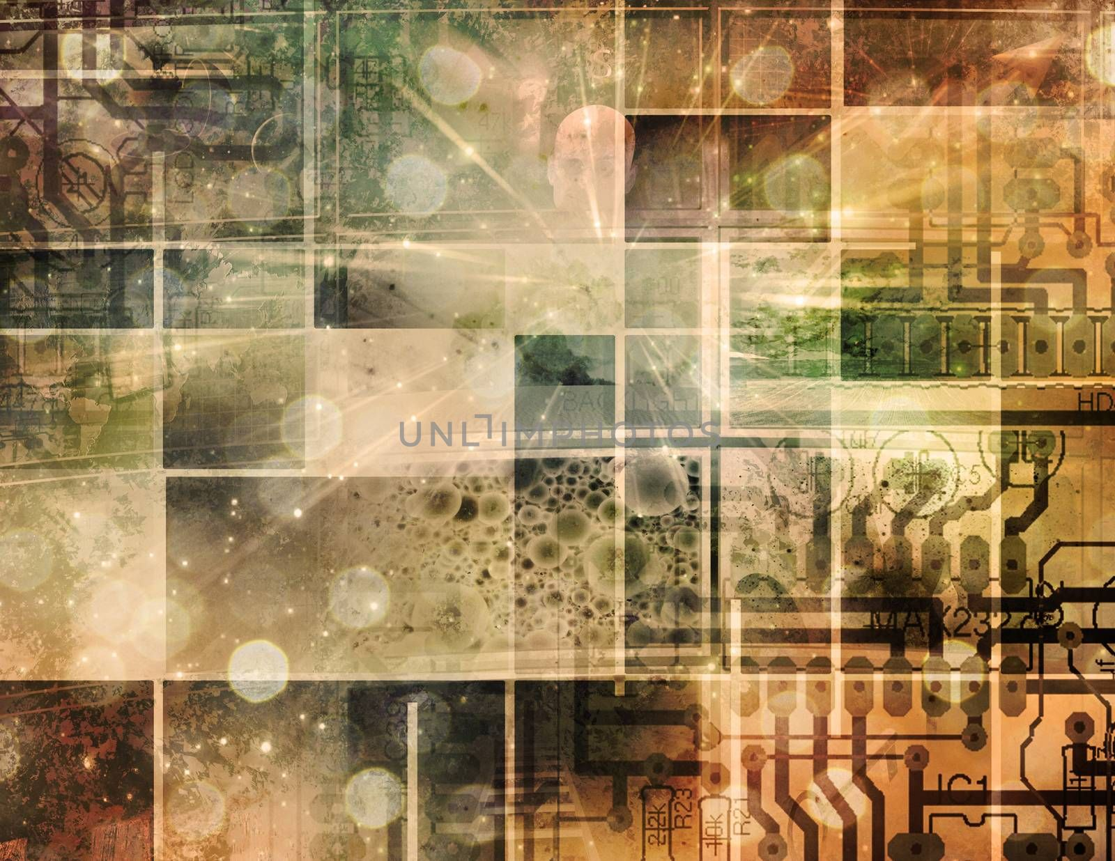 Abstract composition. Circuit Motherboard Technology