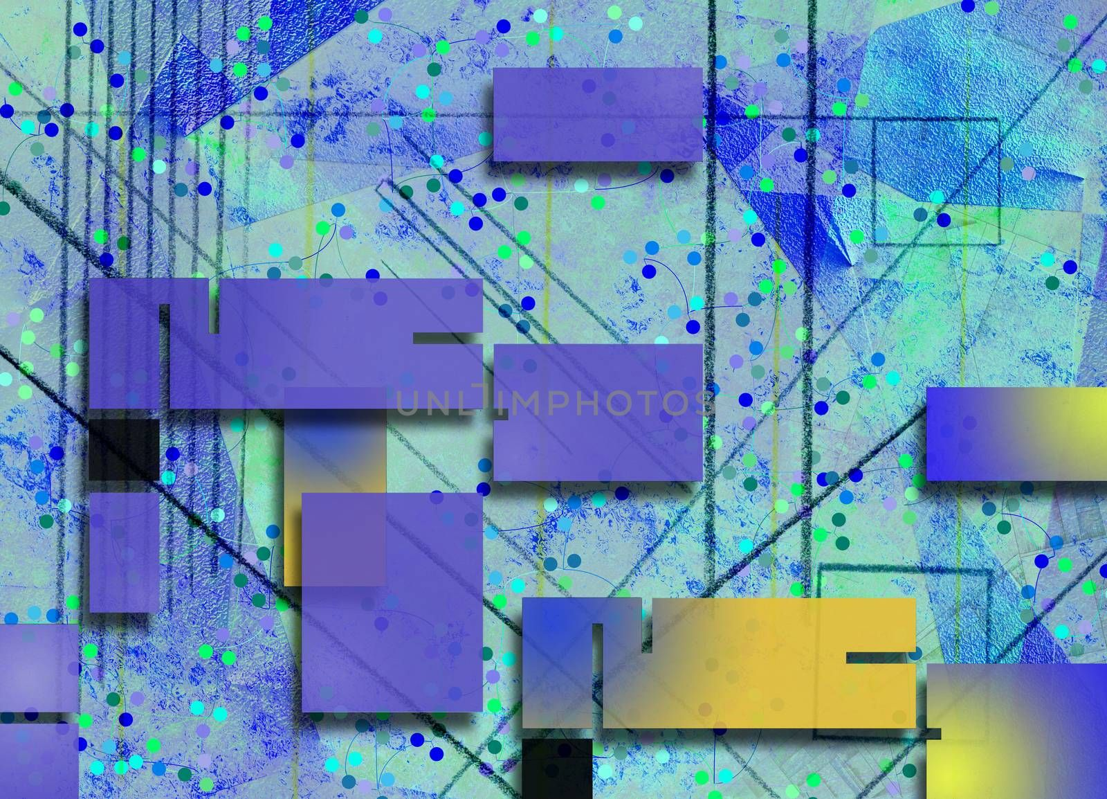 Geometric abstract in purple colors