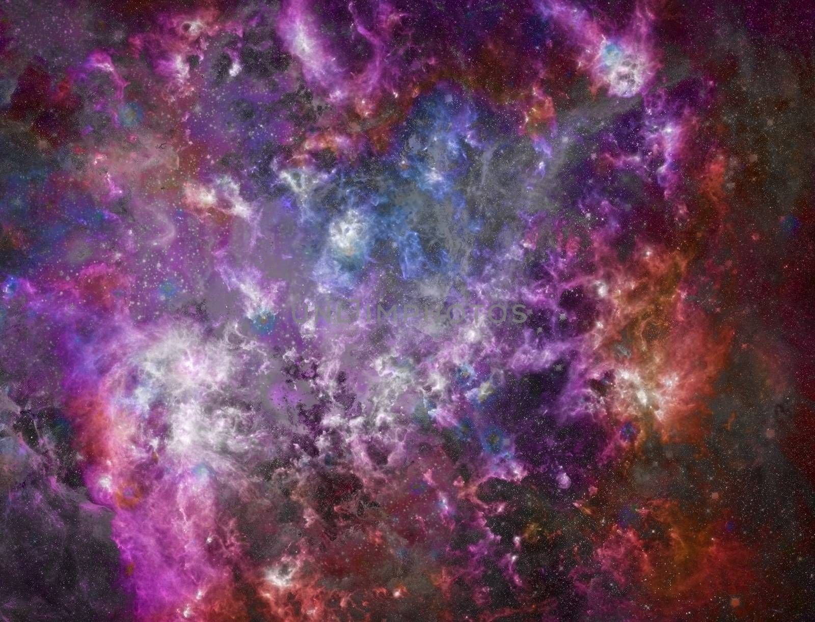 Big Babies in the Rosette Nebula. Colorful space