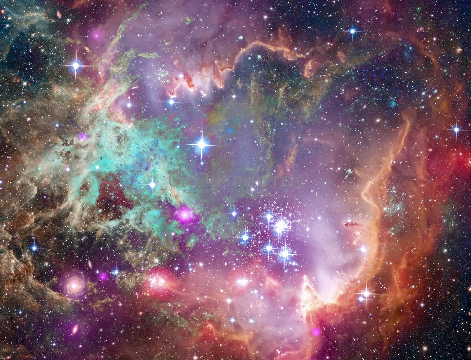 Vivid space. Big Babies in the Rosette Nebula